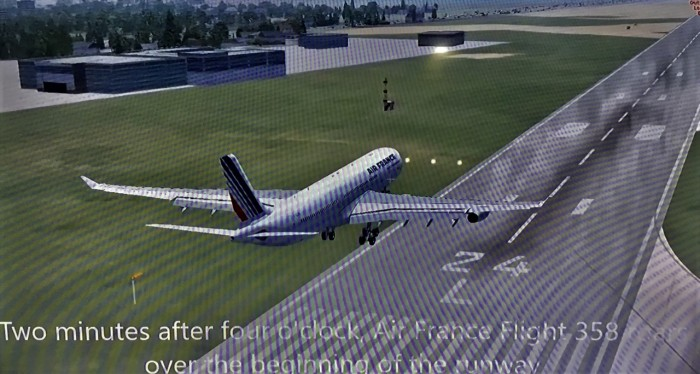 24 Over beginning of the runway