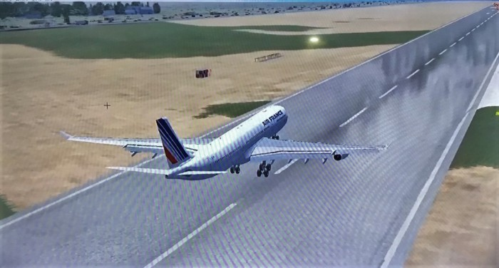 25 Floating over the runway