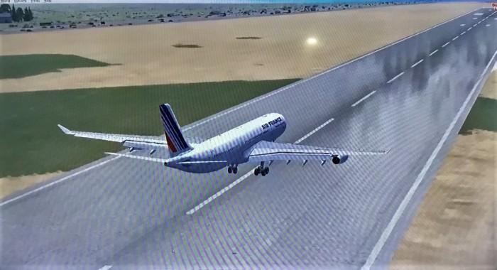 26 Continues to eat the runway