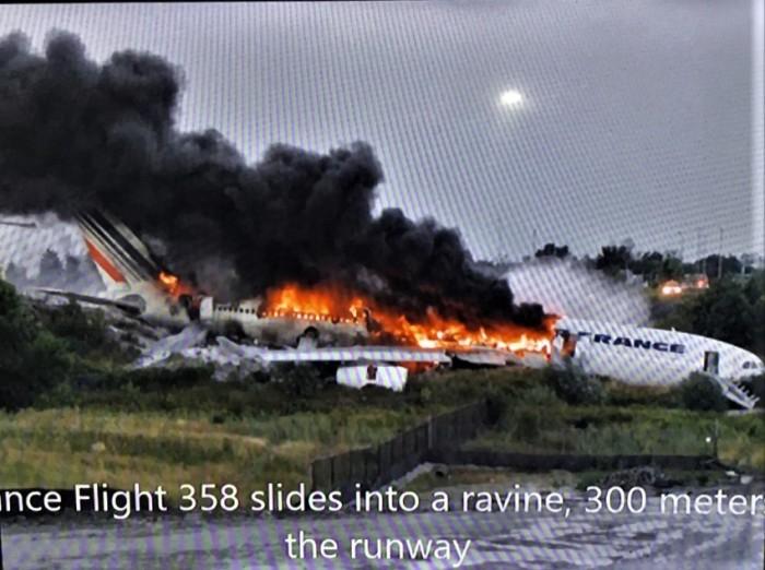 29 airplane burning