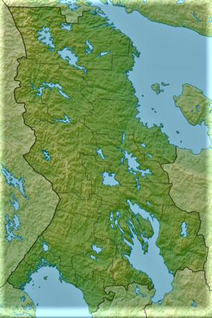 Relief Map of Karelia