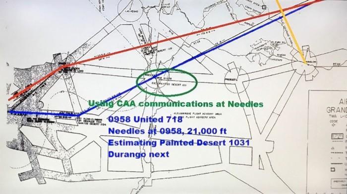 United 718 Needles at 0958